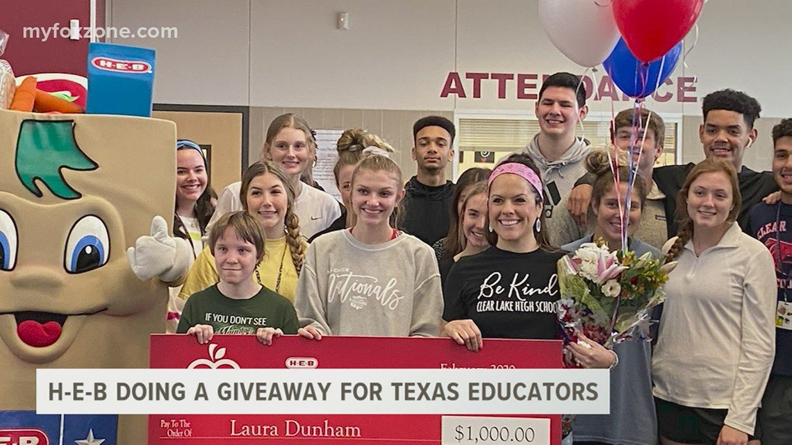 H-E-B is giving away $100,000 Excellence in Education awards to educators in Texas
