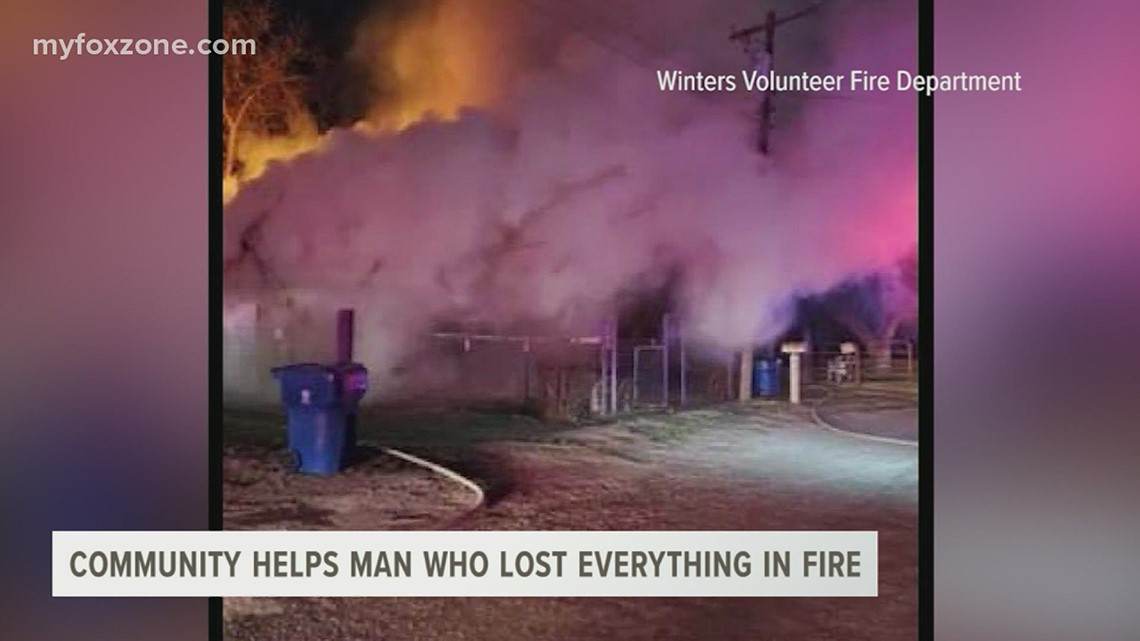 Winters man gets help from community after fire destroys home