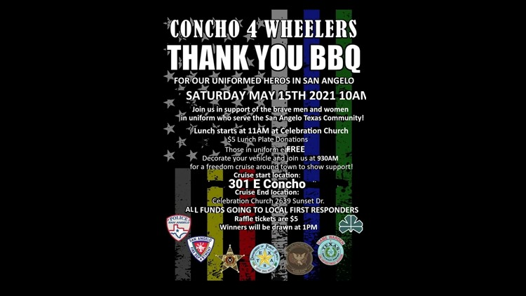 Concho 4 Wheelers host 'Thank You BBQ' for law enforcement and first responders