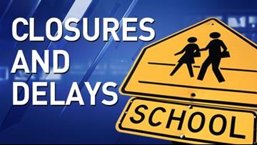 Closures and delays: Nov. 12