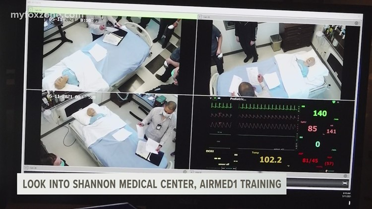 Shannon AirMed1 crew undergoes intensive two-day training at Angelo State nursing department