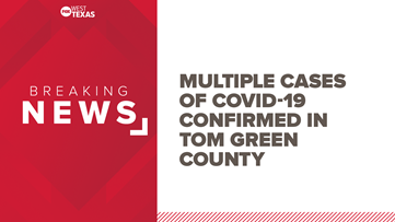Tenth confirmed COVID-19 case confirmed in Tom Green County