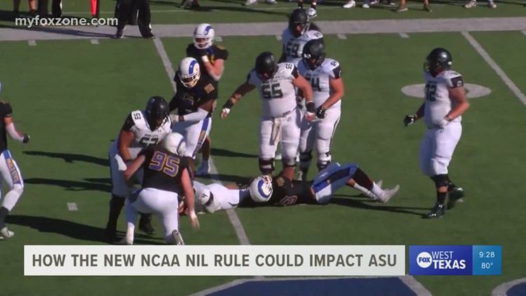 How the new NCAA NIL rule could potentially affect Angelo State student athletes