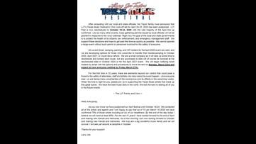 Larry Joe Taylor's Texas Music Festival postponed until October