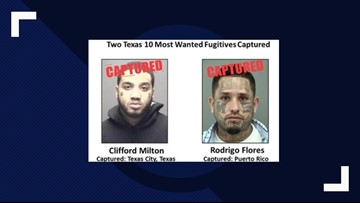DPS: Two of Texas' 10 most wanted fugitives captured
