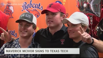 Maverick McIvor signs to Texas Tech