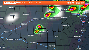 Another round Friday evening? More hail possible Friday