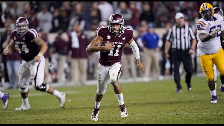 Texas A&M quarterback Kellen Mond