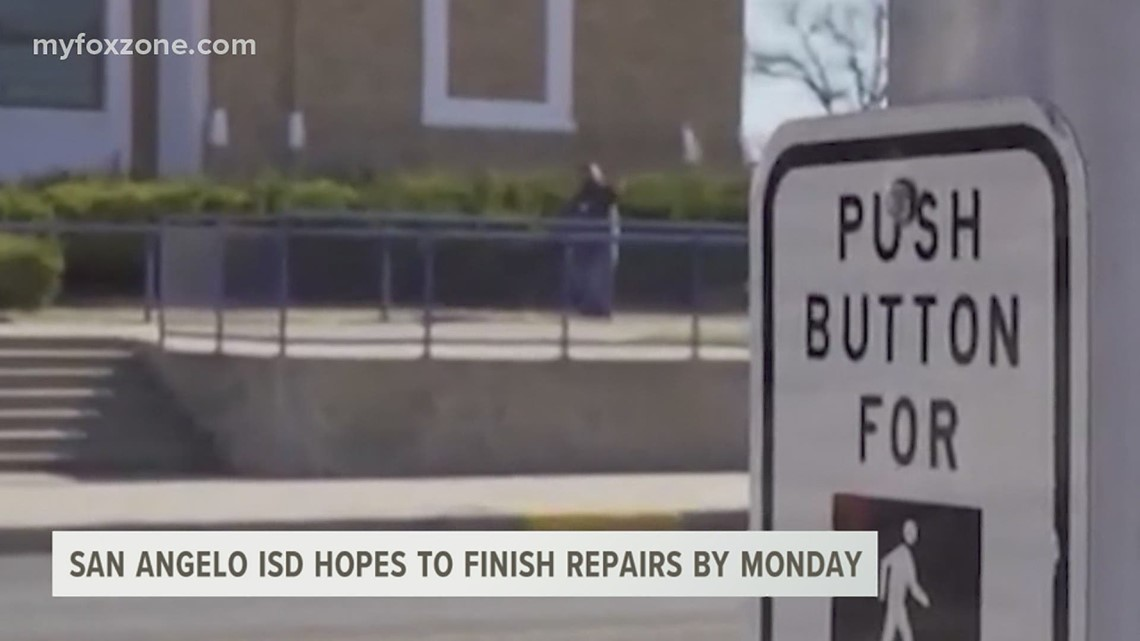 San Angelo ISD hopes to finish repairs by Monday