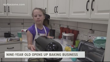 Nine-year old opens up baking business