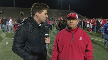 Interview with Coach Denney Faith after Albany wins the Regional Finals
