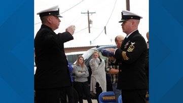 Veribest ISD, Goodfellow personnel hold flag retirement ceremony on Veterans Day