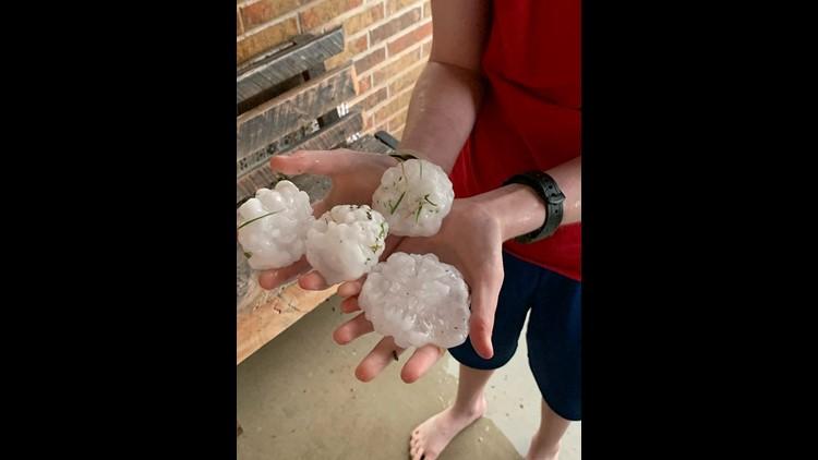 Baseball sized hail in San Angelo