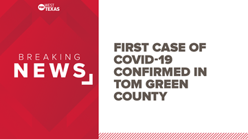 One positive COVID-19 case confirmed in Tom Green Co.