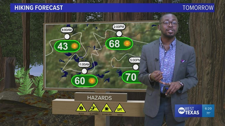 Friday evening forecast 10/15/21 @6p