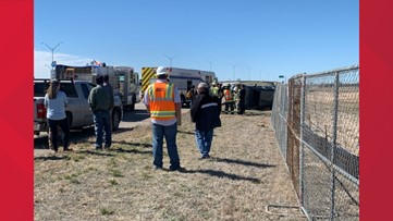 Driver transported to hospital after rollover on East Houston Harte frontage road