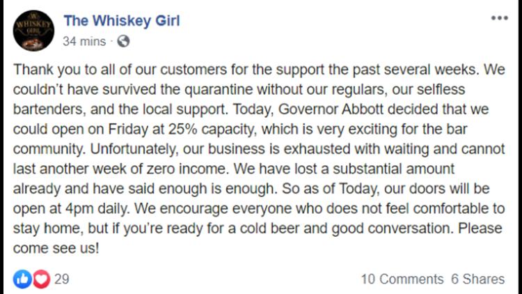 Whiskey Girl social media