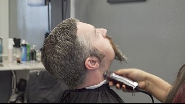 Beards came off as money was raised for United Way of the Concho Valley