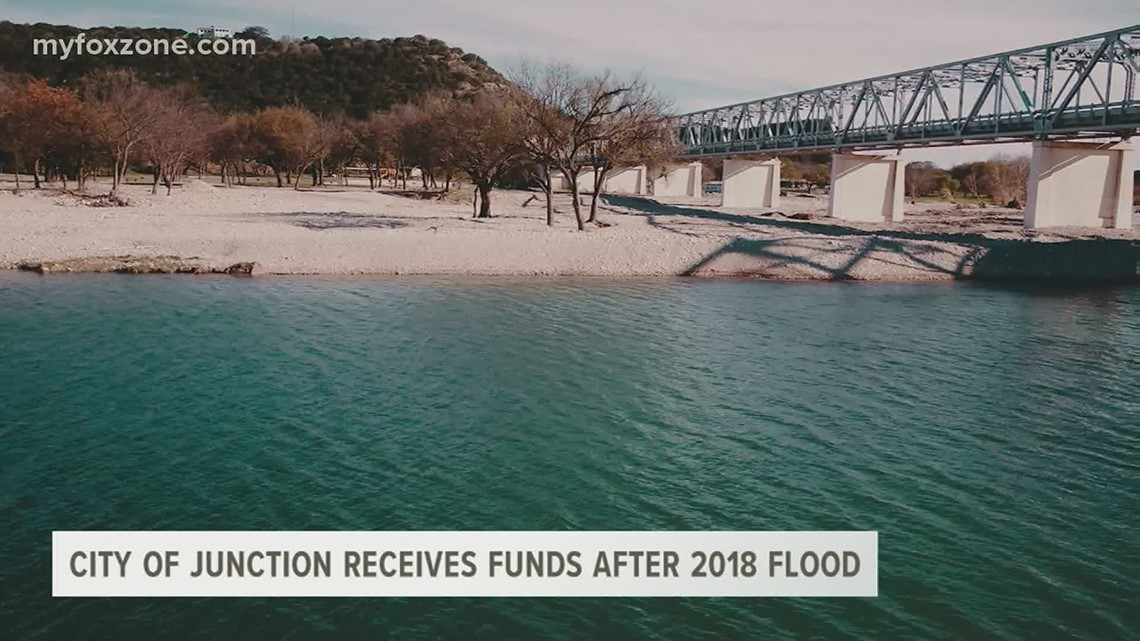 City of Junction receives funds to make repairs needed after the Llano River flooded in 2018
