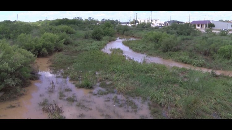 A water main break flooding part of San Angelo. The city was alerted of the heavy flooding around 12:30 PM this afternoon and crews are still working to repair the main.
