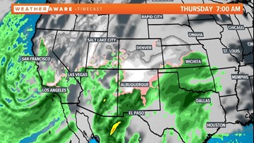 If you have travel plans, you may want to check the forecast first