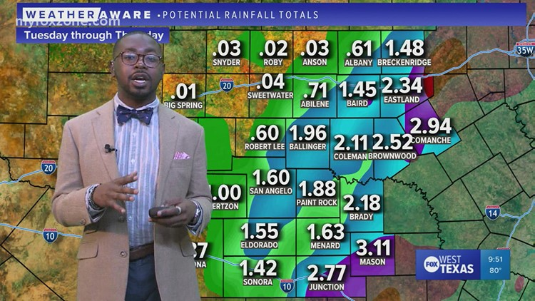 Tuesday night forecast 10/12/21 @9p