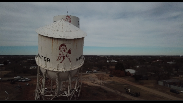 DRONE FOOTAGE: West Texas water tower demolished after 70 years