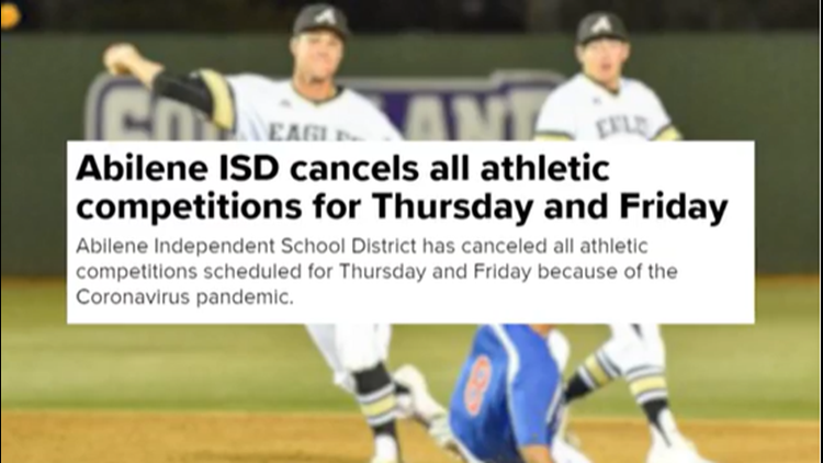 Health concerns affect Big Country sports