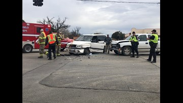 Two drivers injured in morning crash on Harris and Main