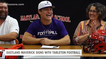 Eastland's Anthony Bonilla signs with Tarleton football