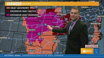 FORECAST: Hot and dry weather continues. Dangerous heat to hit the central plains