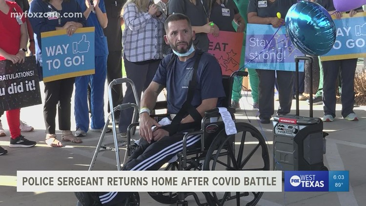 San Angelo police sergeant returns home after long battle with COVID-19