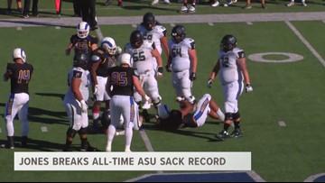 Jones Breaks ASU's All-Time Sack Record