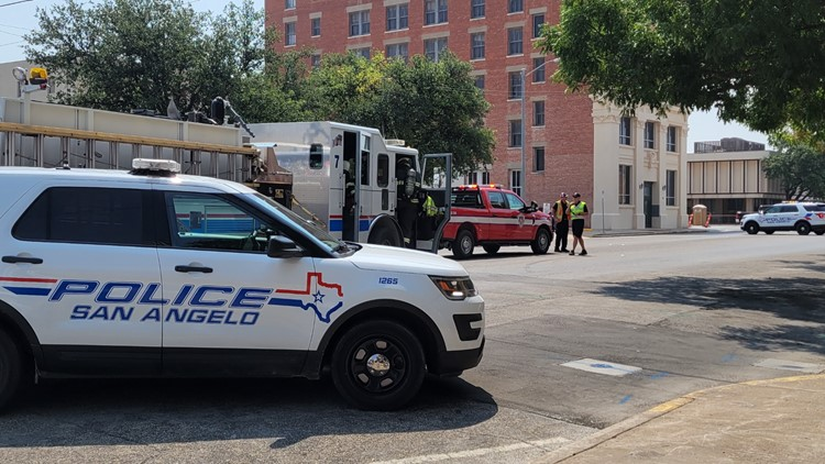 San Angelo FD responds to structure fire call downtown, no fire found