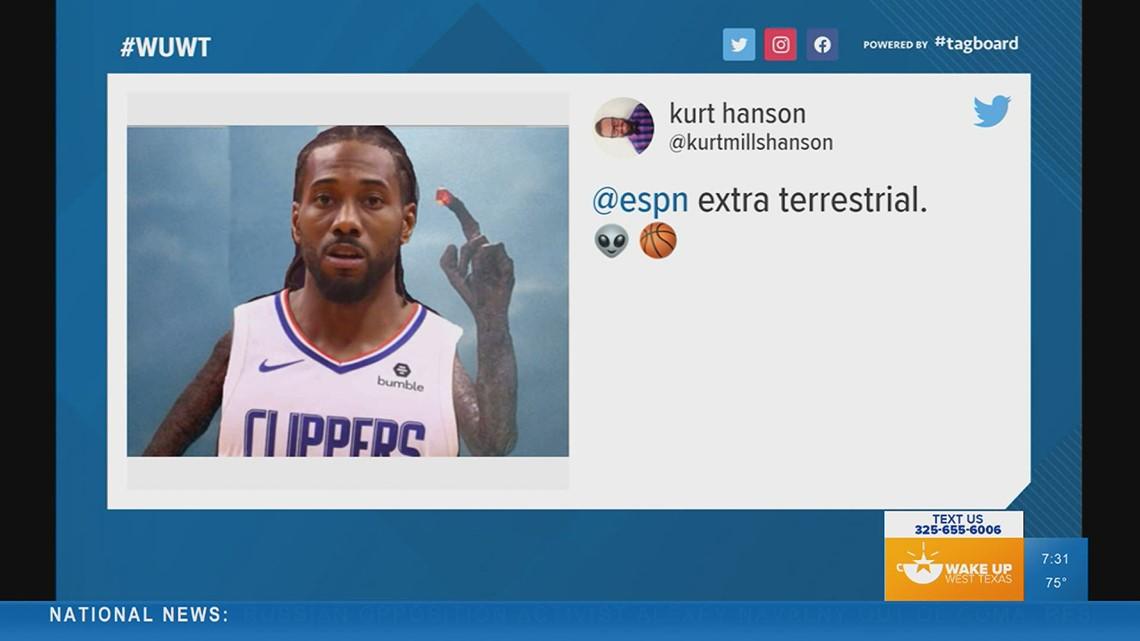 TRENDING: Kawhi Leonard blocks dunk using his middle finger