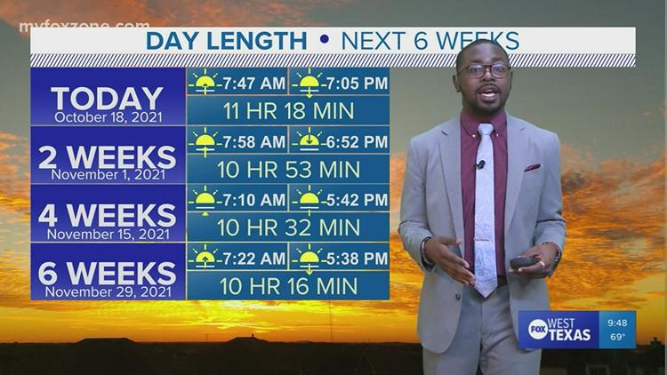 Monday night forecast 10/18/21 @9p