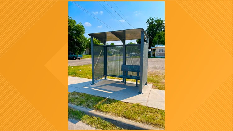 Bus stop upgrade: Concho Valley Transit installs new bus shelters