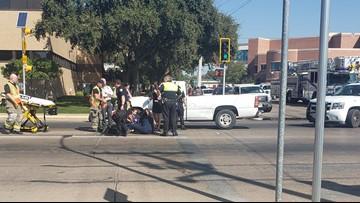 Pickup truck strikes pedestrian in downtown San Angelo crosswalk