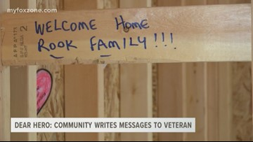 Dear Hero: Community writes messages of love and support in veteran's home