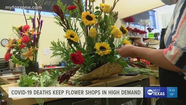 COVID-19-related deaths keep local flower shops in high demand