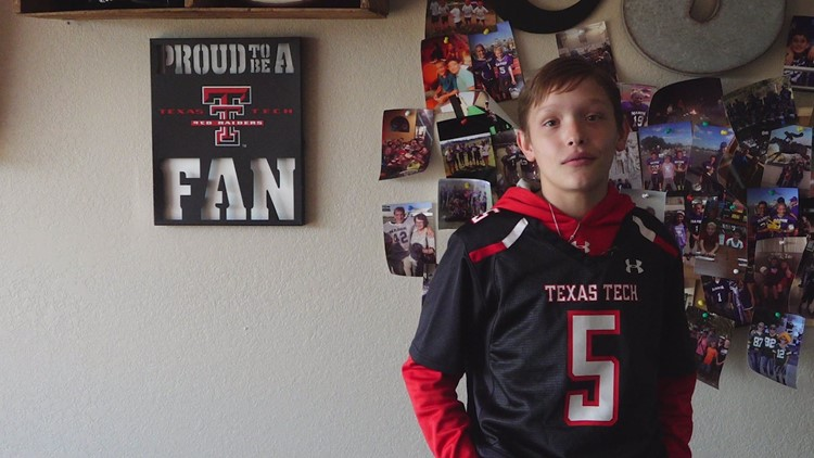 The biggest little fan of Patrick Mahomes