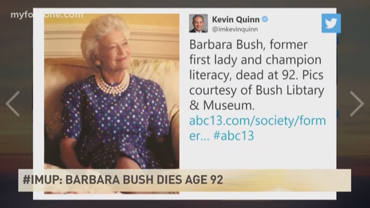 Families Turn To Social Media With >> Imup People Turn To Social Media To Mourn The Death Of Barbara Bush