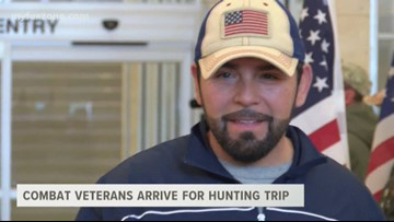 Combat Veterans arrive for a special hunting trip in West Texas
