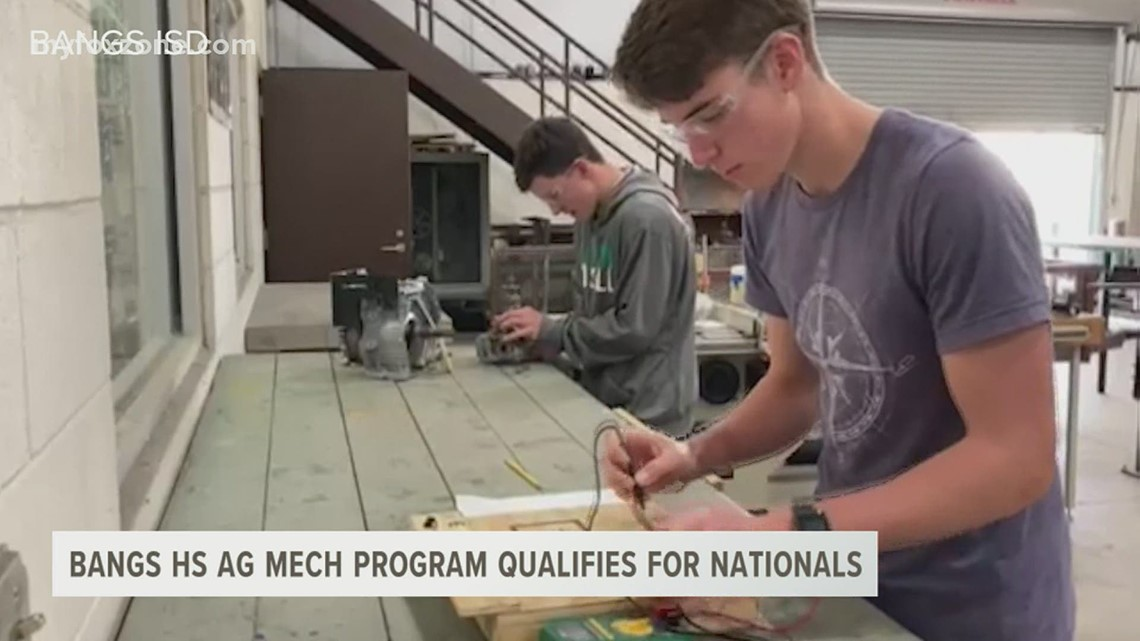 Bangs High School's agriculture mechanics team qualifies for nationals in October.