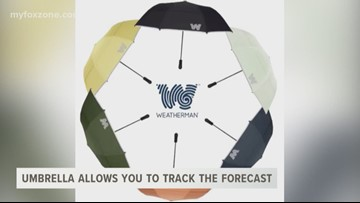 """Weatherman"" umbrella allows you to track the forecast"