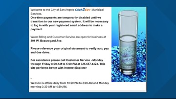 Check your bank statements - COSA is investigating water bill security breach