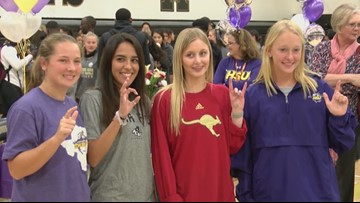 Four Abilene High girls sign to play college sports