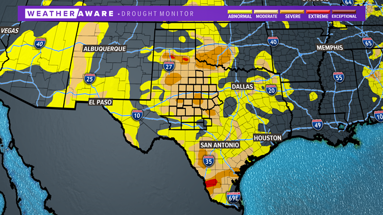 Latest statewide drought monitor
