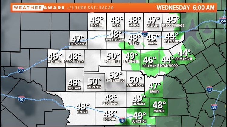 Wednesday morning radar