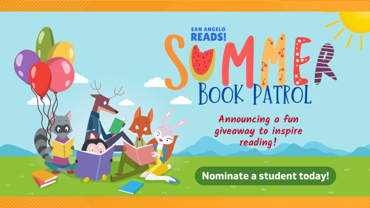 San Angelo ISD announces Summer Book Patrol giveaway